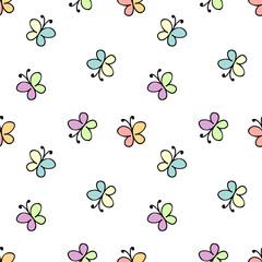 seamless baby pattern white