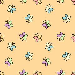 seamless baby pattern yellow