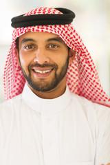 arabian man close up portrait
