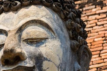 face of buddha statue.