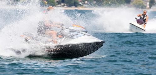 Fotorolgordijn Water Motor sporten jetski race