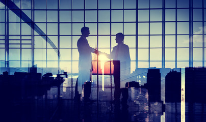 Businessmen Handshake Deal Commitment Support Concept