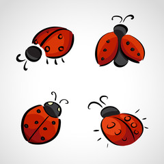 Sketch icons - ladybug