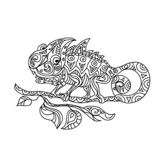 Chameleon zentangle