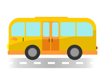 Cartoon bus on white background