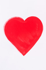 painted red heart