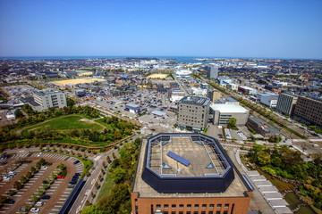 石川県庁展望ロビーから見える風景