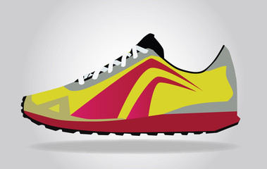 Runing Shoes vector
