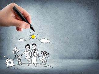family support - insurance concept