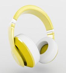 Cuffie auricolari musica gialle