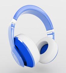Cuffie auricolari musica blu