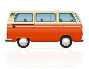 retro minivan vector illustration