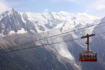 Chamonix mountain cable car