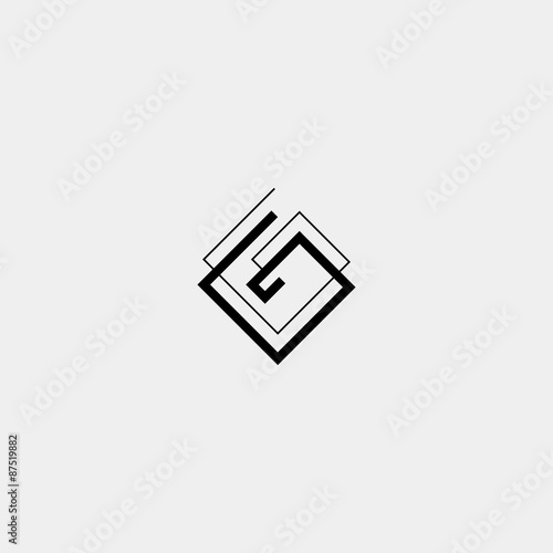 letter g icon or logo design template elements vector black and Backwards G Logo letter g icon or logo design template elements vector black and