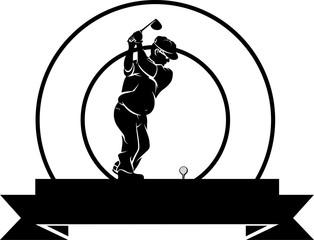 Older Duffer Golfer Badge