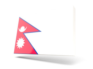 Square icon with flag of nepal