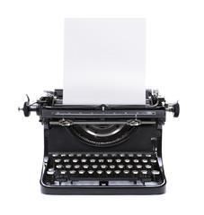 Schreibmaschine mit Weißem Papier