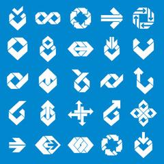 Abstract creative design elements vector collection, abstract bu
