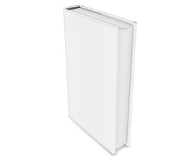 Blank isolated book. 3d rendered illustration.