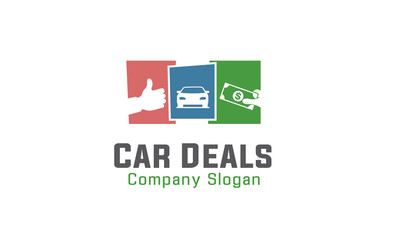Car Deals Logo template