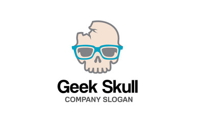 Geek Skull Logo template