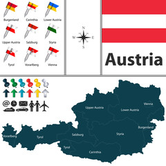 Map of Austria