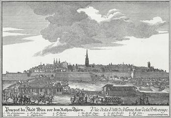 Wien um 1720, Kupferstichvorlage