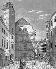 Wien, alter Federlhof, Kupferstichvorlage