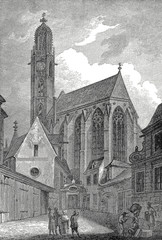 Wien, Kirche Maria am Gestade, Kupferstichvorlage