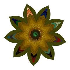 Vector Beautiful Deco color Mandala