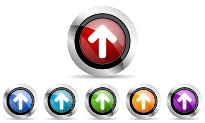 up arrow vector icon set