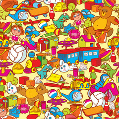 Pattern with childish toys