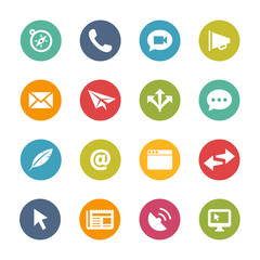 Communication Icons, Circle Series
