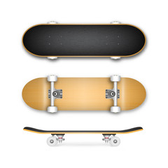 Realistic skateboard vector