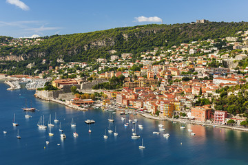 Fotobehang Nice Villefranche-sur-Mer view on French Riviera
