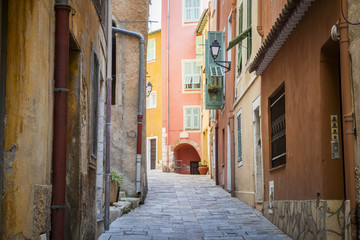 Medieval street in Villefranche-sur-Mer
