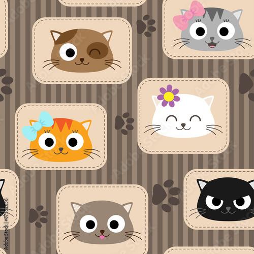 Схема аппликаций кошки