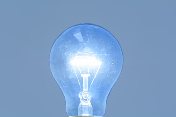 Light Bulb or electric light bulb incandescent isolated on white background.