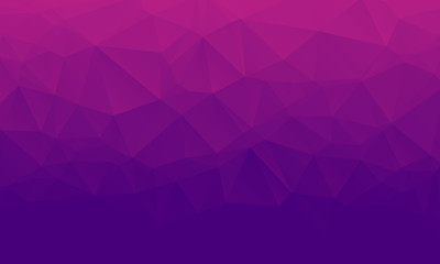 Shades of purple abstract polygonal geometric background. Low