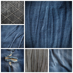 collection of denims texture background
