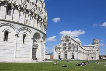 Fotomurales - Italie / Pise - Piazza del miracoli et tour penchée de Pise