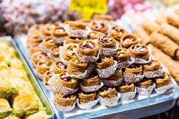 baklava on a market in Istanbul