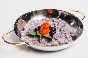 rice with blueberry