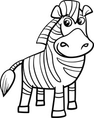 zebra cartoon coloring page