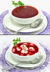 Obraz czerwony barszcz - fototapety do salonu