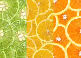 Mixed citrus fruit  background.