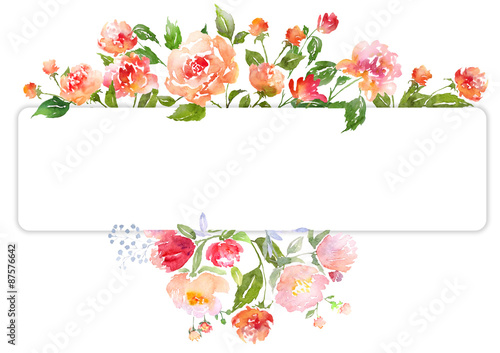 Quot Watercolor Floral Card Template Quot Stock Photo And Royalty