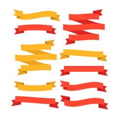 Ribbon vector.