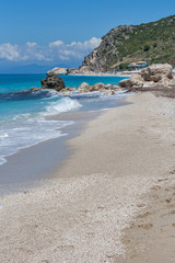 Kathisma beach at the island of Lefkada in Greece