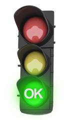 Semaforo con verde ok